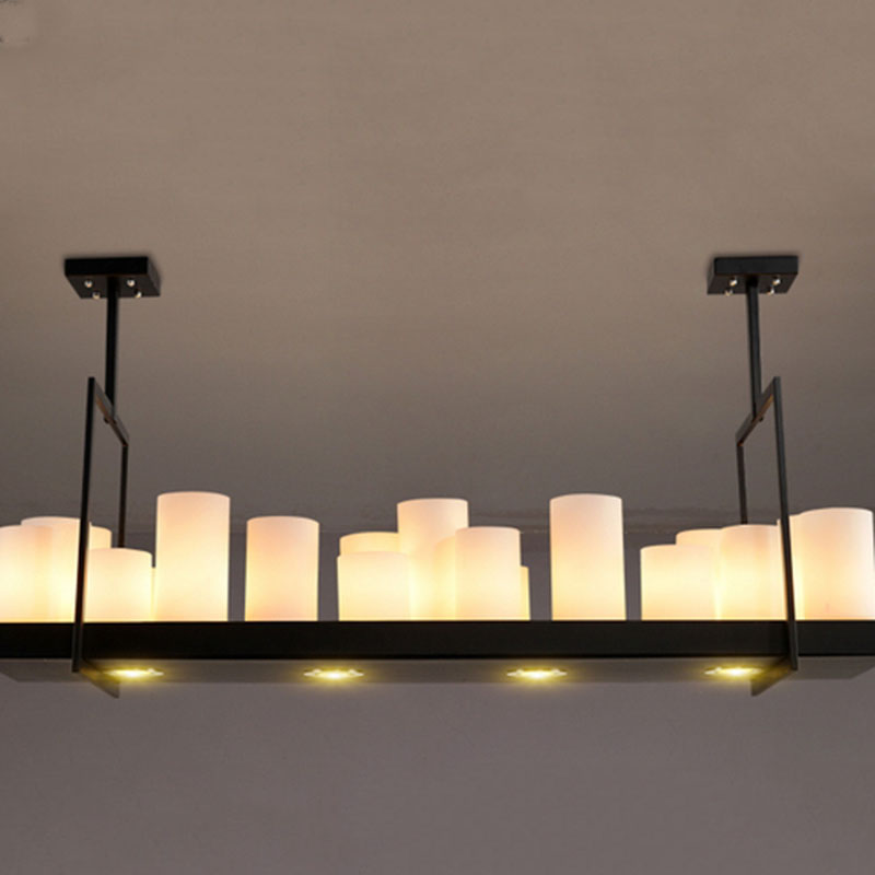 Candle Light Fixture: Vintage Flush Mount Creative Candle Holders Design Wrought