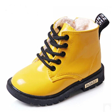 2016 New font b Winter b font Children font b Shoes b font PU Leather Waterproof
