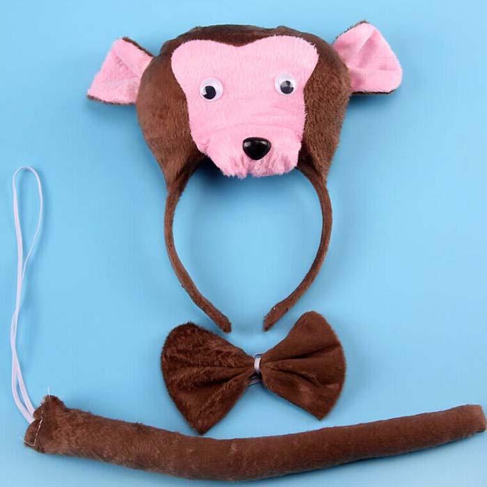 Animal Monkey 3D Headband Kids font b Childrens b font Halloween font b Fancy b font