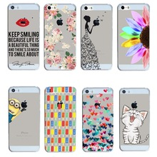 2015 New Arrival Hot 22 Styles PC Hard Transparent Phone Skin Back Case Cover For Apple i Phone iPhone 5 5S 5G