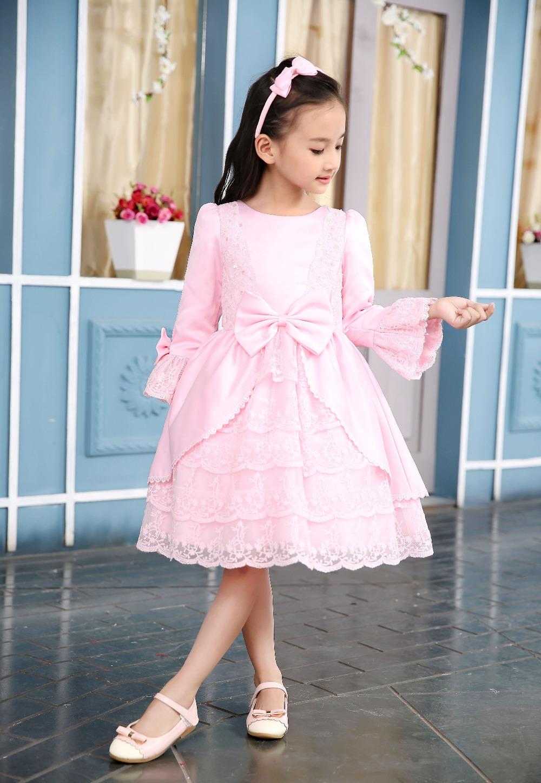 2016 The latest High quality Baby Pink font b Fancy b font Lace font b dresses