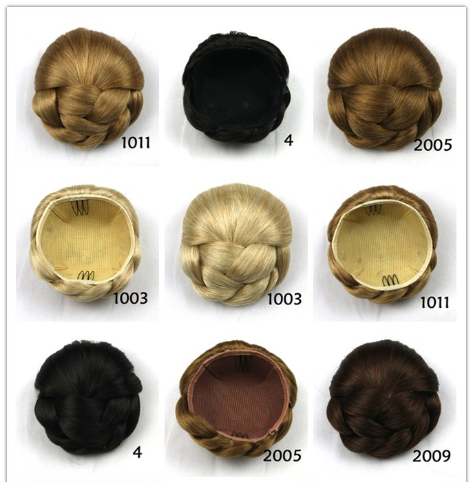 1PCS Womens Synthetic Fake Hair Bun Wig Hair Chignons Roller Hepburn Hairpiece Clip Buns Toupee Bun