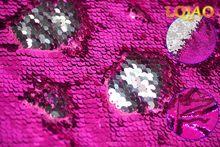 Ткань с обратимой блестки-светло-Золотая и белая Русалка рыбные весы блесток ткань для DIY на платье невесты свадебное вечернее платье костю...(Китай)