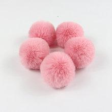 2 шт. пакет, помпон из искусственного кроличьего меха, Пушистый Плюшевый шар конфет для самостоятельного изготовления ключей, аксессуар для ...(Китай)