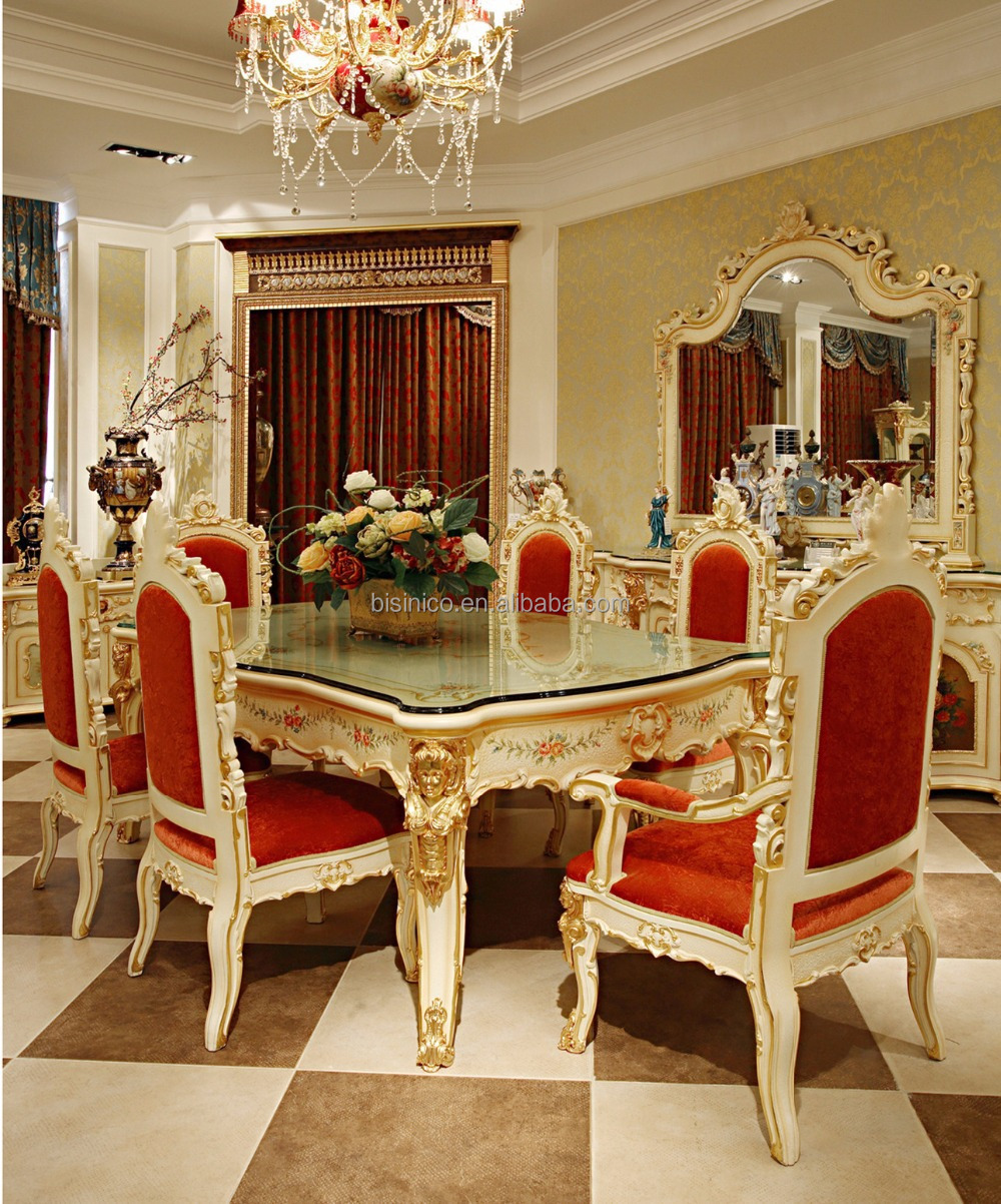 Luxury Dining Room Furniture: Luxury French Rococo Style Angel Dining Table Set/ Antique