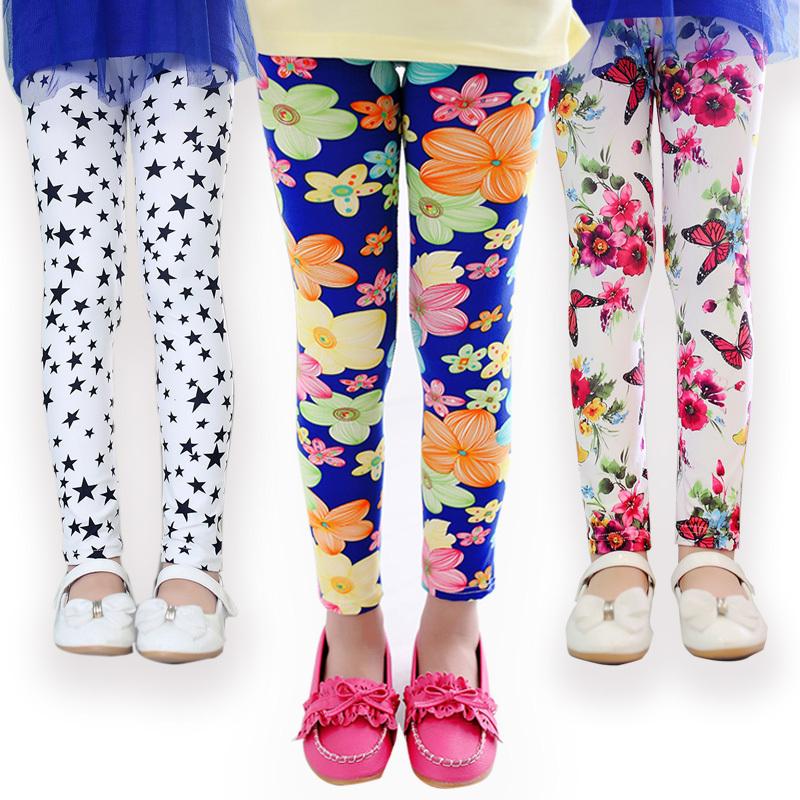2b4a732d337d3 girl pants new arrive printing Flower girls leggings Toddler Classic  Leggings 2 14Ybaby girls leggings kids