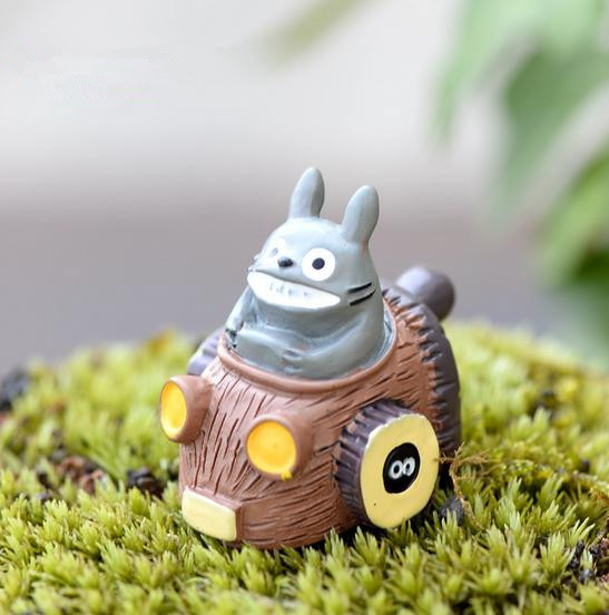 Gnome In Garden: 1pcs Totoro Riding Driving Car Ornaments Fairy Miniature