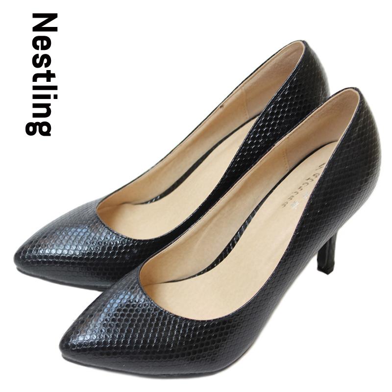08fd2a526ed5 Весы с острым носом пр женщины туфли на высоком каблуке натуральная кожа  шпильки женщины высокая высокие каблуки обувь девушку размер 34 - 41 D45