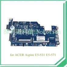 Z5WAH LA-B161P NBML811002 NB.ML811.002 For acer aspire E5-531 E5-571 laptop motherboard SR1EN I3-4030U