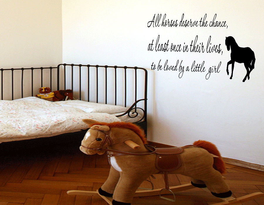 Love Horse Girls Western Vinyl Wall quote Decal home Decor Wall Quote