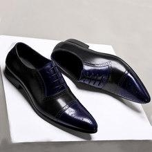 Мужские кожаные туфли; Деловые модельные туфли; Мужские брендовые туфли из натуральной кожи Bullock; Черные слипоны; Свадебные мужские туфли; ...(Китай)