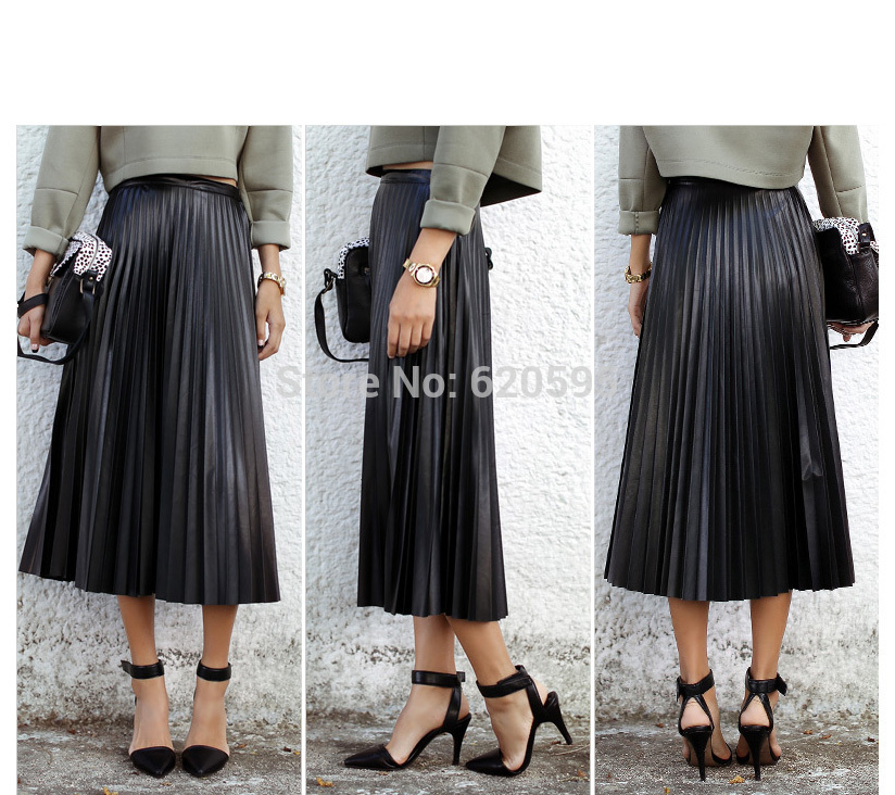 c82dde8197 High Waisted Long Pleated Skirt - Redskirtz