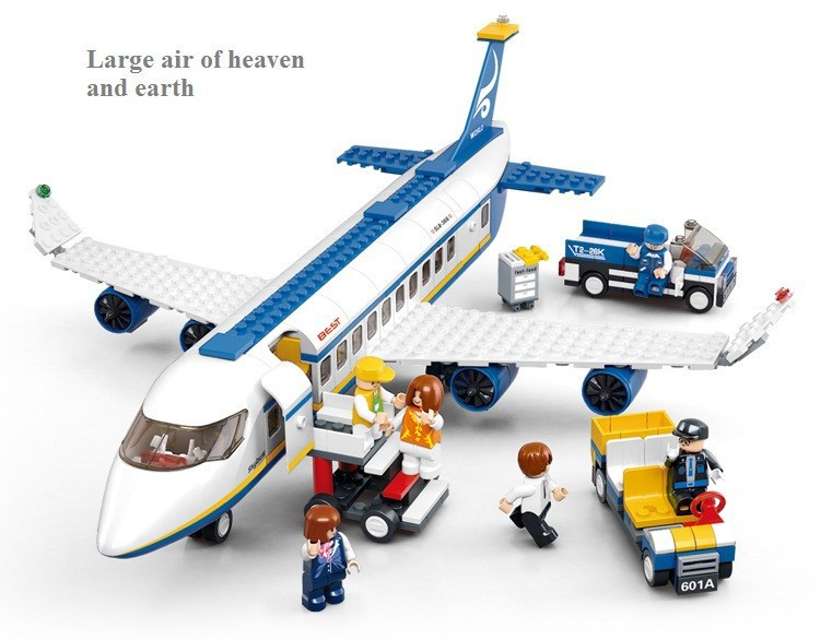 UKLego New Sluban City Airplane Building Blocks Toy Set.
