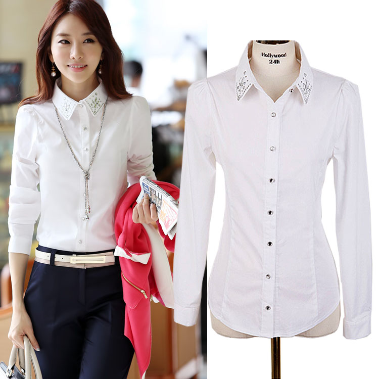 Formal White Blouse - Breeze Clothing