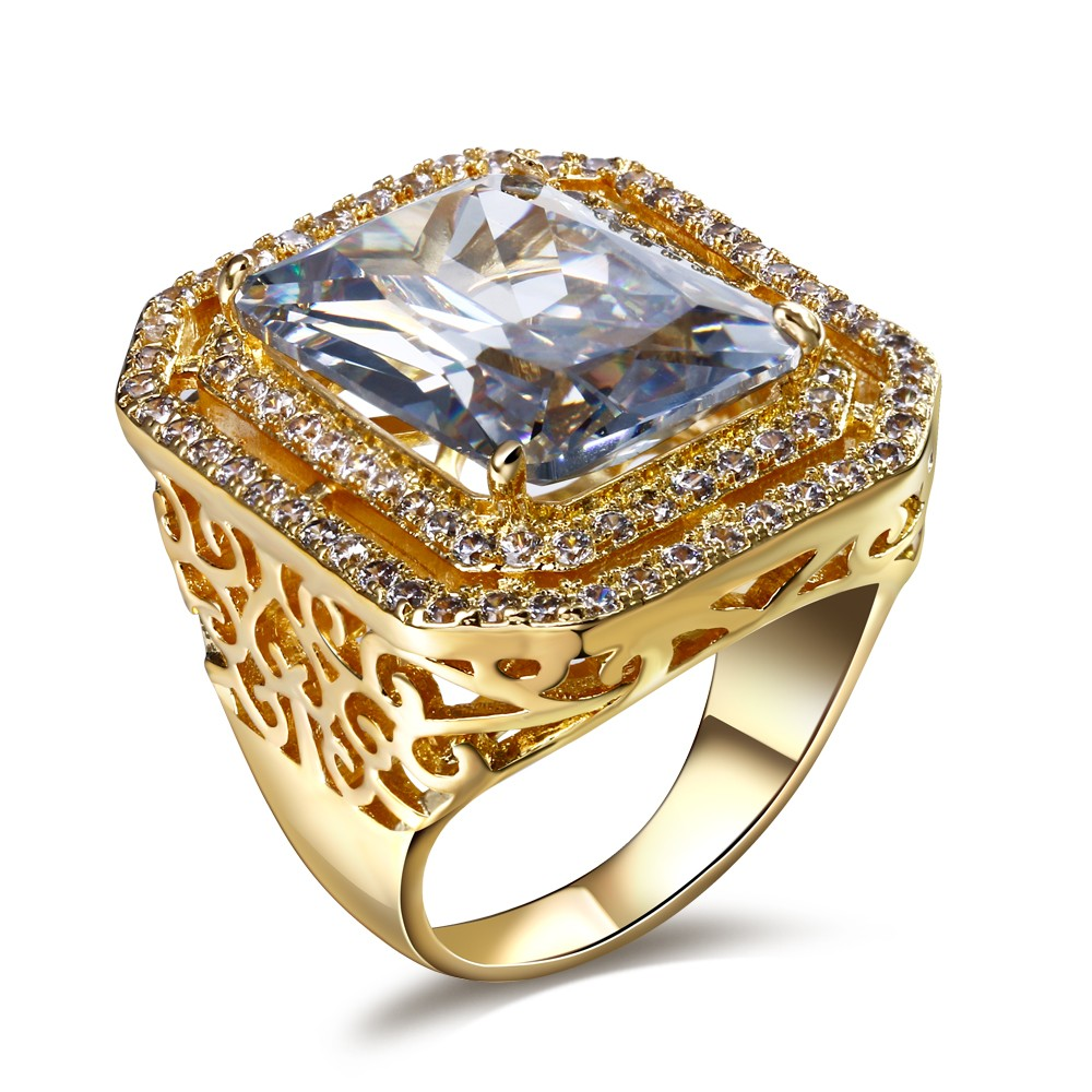 New Engagement Ring Made With Simulated Cubic Zirconia Lead Free