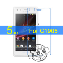5pcs Ultra Clear LCD Screen Protector Film Cover For Sony Xperia M C1905 C1904 Protective Film + cloth