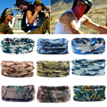 9 Style Camouflage Hiking Scarf Head Bandana Face Mask Neck Snood For Outdoor Camping Cycling Camo