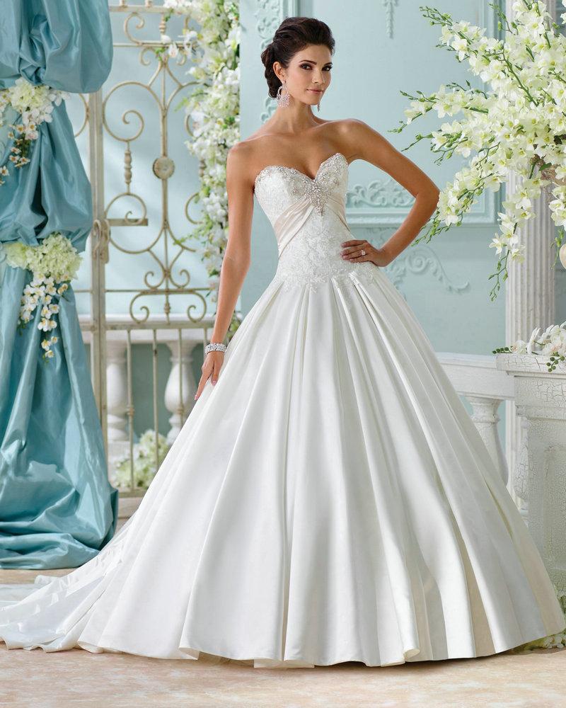 Cinderella Style Wedding Gowns: Style Lucienne 116215 Elegant Satin Wedding Dress Princess