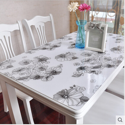 Soft Class Table Mat Transparent Plastic Table Cloth