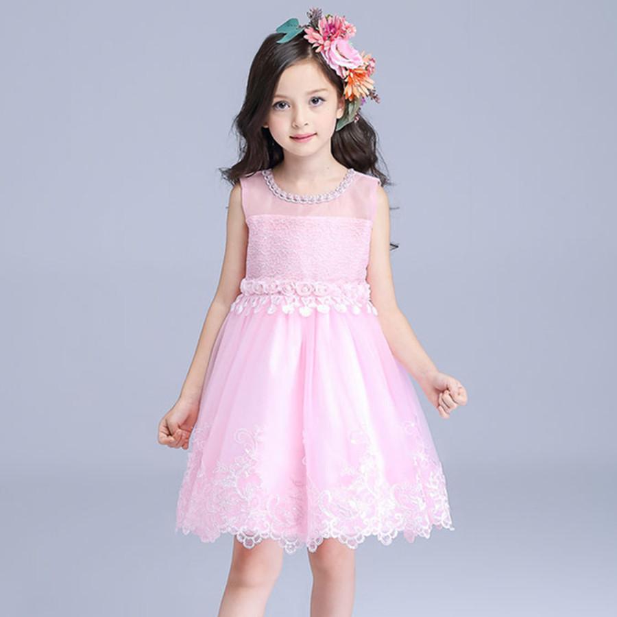 Fairy Beatiful Girls font b Dress b font Child Pink Flower Girl Vestidos 2016 font b