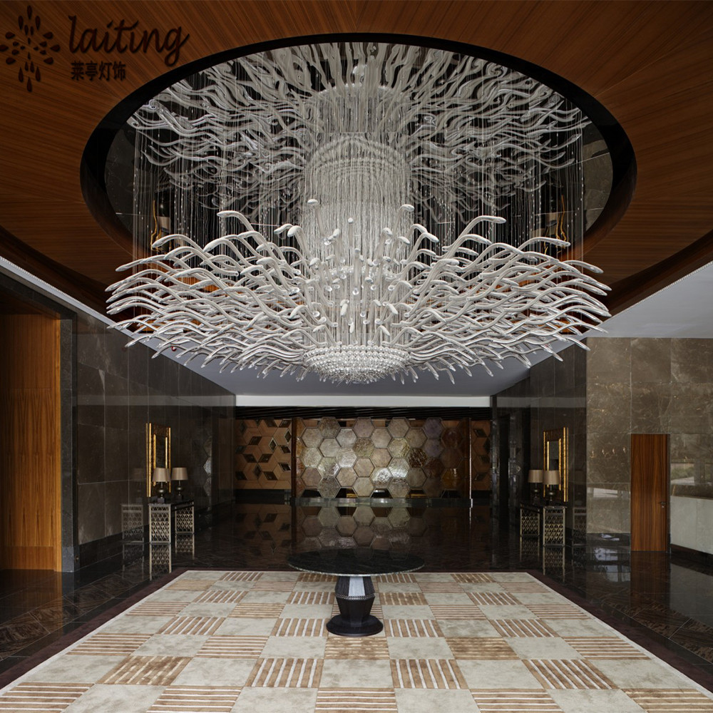Modern Hotel Lobby Custom Made Chandelier Light For Low
