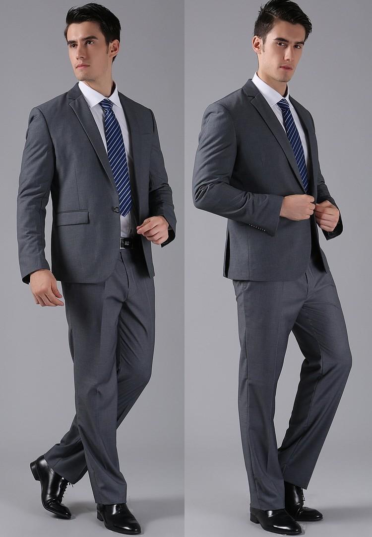 (Kurtki + Spodnie) 2016 Nowych Mężczyzna Garnitury Slim Fit Niestandardowe Garnitury Smokingi Marka Moda Bridegroon Biznes Suknia Ślubna Blazer H0285 48