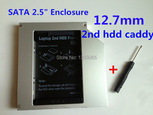 Brand new  SATA to SATA Aluminum  2nd HDD caddy For 12.7mm Universal CD/DVD-ROM