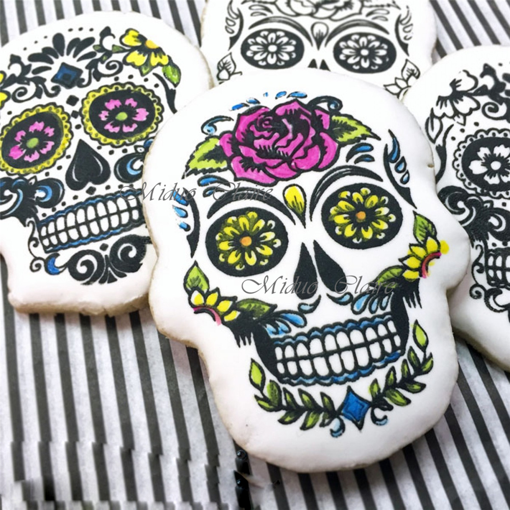 Online Buy Wholesale sugar skull stencil from China sugar ...