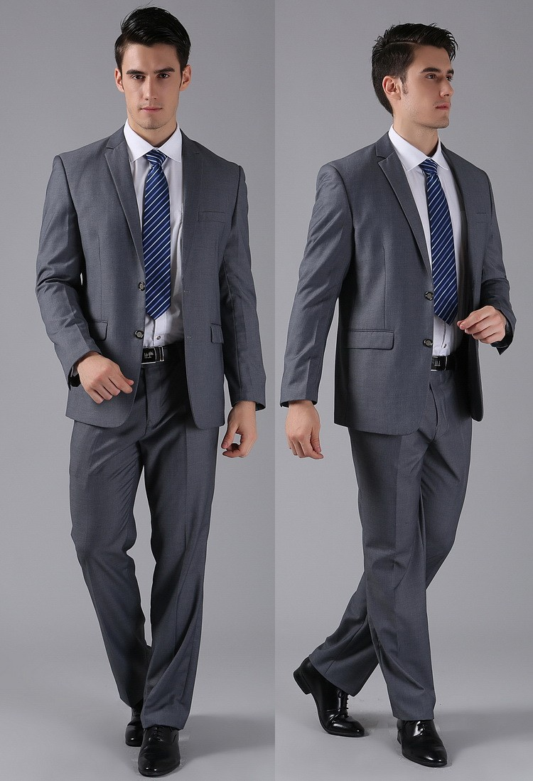 (Kurtki + Spodnie) 2016 Nowych Mężczyzna Garnitury Slim Fit Niestandardowe Garnitury Smokingi Marka Moda Bridegroon Biznes Suknia Ślubna Blazer H0285 51