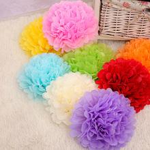 Sales Promotion 6 inch (15cm) Tissue Paper Pom Poms Wedding Party Decor Paper Flower For Wedding Decoration /Garden Supplies