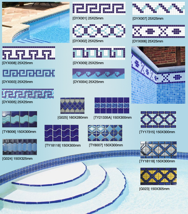 decorative ceramic swimming pool blue border tile waterline, View ceramic  border tile, Taotao Product Details from Foshan Tileeasy Building Material  ...