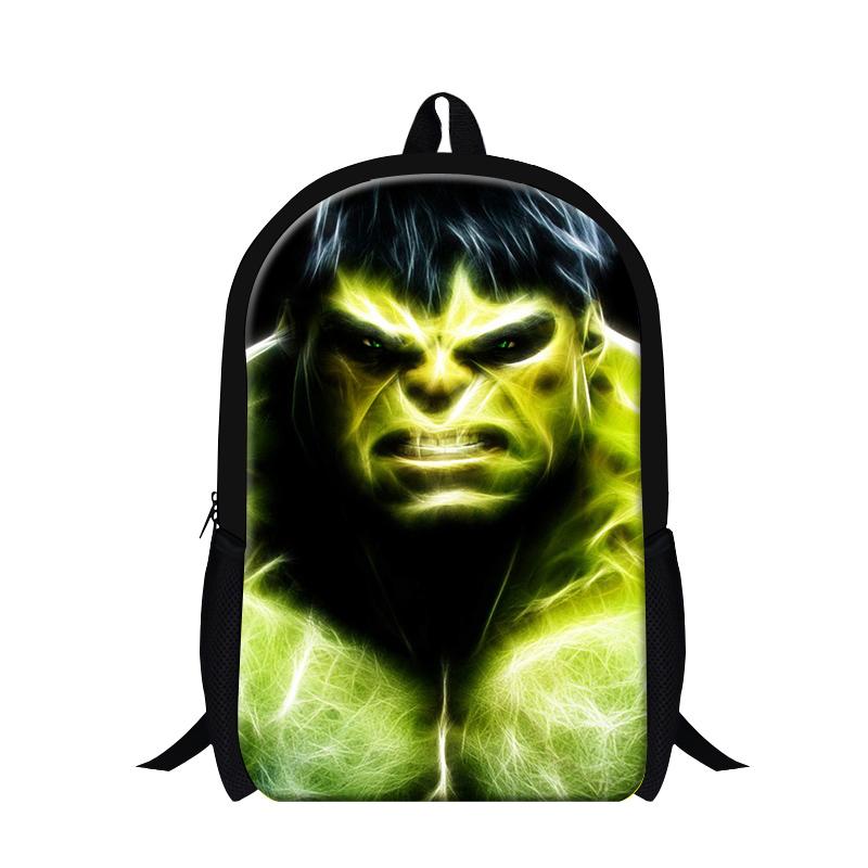 2016 New The Avengers Cartoon Backpack Children Hero Hulk Primary Kids School Bag multi-function Boys Students Shoulder Bag