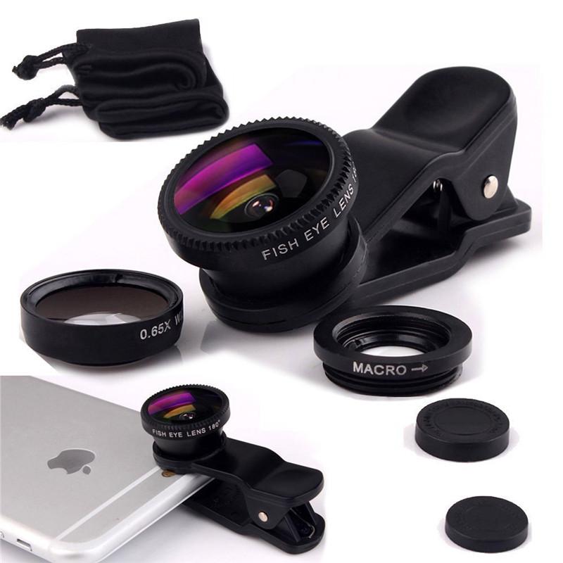 For Sony Xperia T2 Ultra D5303 S36h M2 M4 M5 Wide Angle Macro Fisheye Lenses 3