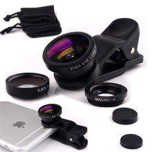 For Sony Xperia T2 Ultra D5303 S36h M2 M4 M5 Wide Angle Macro Fisheye Lenses 3 in 1 Universal Mobile Phone Lens Camera