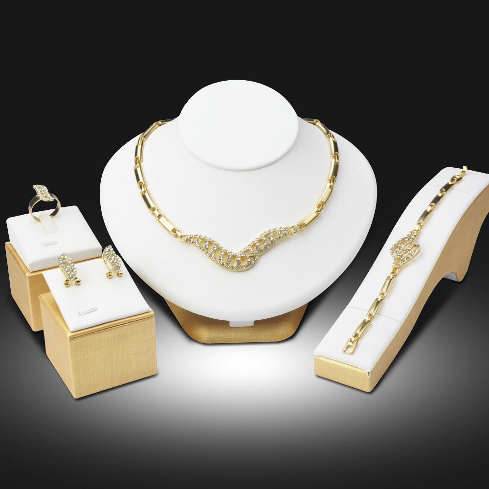 9dcbf472dd Dubai 18K Gold Plated Jewelry Sets Nigerian Wedding African Beads Crystal  Bridal Jewellery Set Rhinestone Ethiopian Jewelry