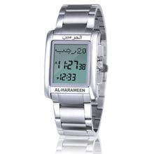2016 новейшие часы azan 6208 серебряные исламские часы Кибла с молитвенным компасом мусульманские часы лучшие подарки для мусульман(Китай)