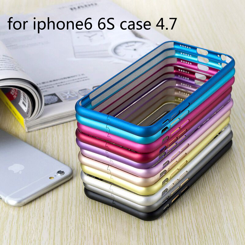 Protect Cases Metal Aluminum Frame Bumper Case for iPhone 6 phone Borders Slim plum buckle for
