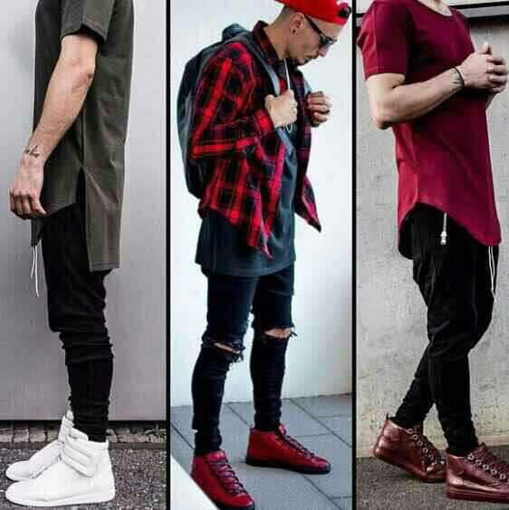cool jeans for men black designer hip hop biker jeans ...