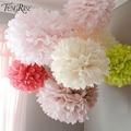 FENGRISE Wedding Decoration Events 5 pcs 20 25 30 cm Pom Pom Tissue Paper Pompom Ball