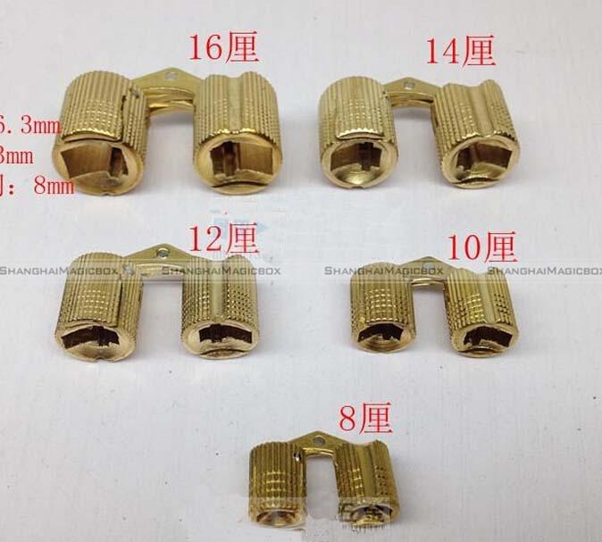 Wholesale- Shanghaimagicbox 4pcs 14mm 4Pcs Brass Barrel Invisible Concealed  Hinge For Caravan Worktops DIY Project 40914309