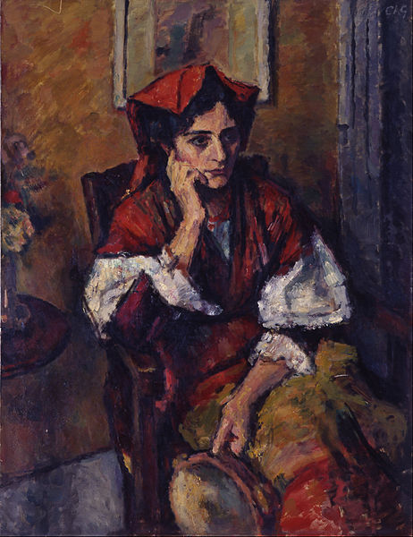 Canvas Art Prints Fabric Wall <font><b>Decor</b></font> Giclee Oil Painting Charles Guerin - <font><b>Italian</b></font> Woman With Tambourine