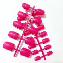 24 шт. плоские накладные ногти конфетные красные темно-синие розовые акриловые накладные ногти полное покрытие накладные ногти маникюрные и...(Китай)