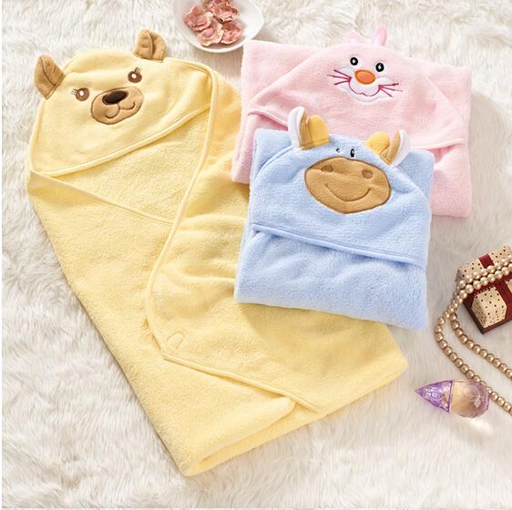 Baby Blanket Autumn Winter 3 Colors Parisarc Wrap 75 75cm Infant Coral Fleece Cartoon Characters Blankets