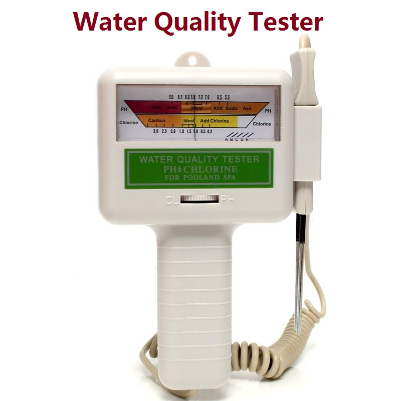 swimming pool spa water quality ph cl2 chlorine digital ph tester pc 101 on. Black Bedroom Furniture Sets. Home Design Ideas