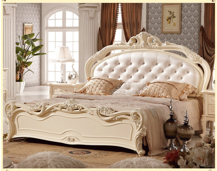Free shipping modern pretty princess style solid wood oak - Wholesale bedroom furniture sets ...