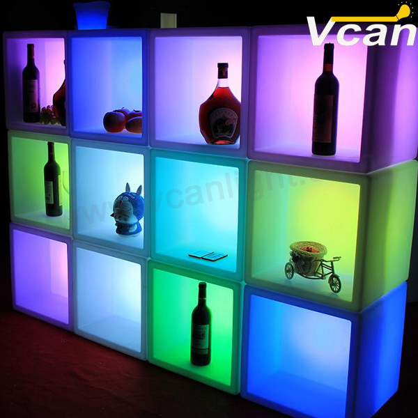 Glowing-storage-container-LED-ice-bucket-light-up-cube-led