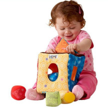 2014 New Brand baby toys multifunctional clutch cube peekaboo hang/bell baby rattles mobile toys for education