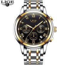 LIGE мужские часы, модные лучшие брендовые Роскошные деловые автоматические механические часы, мужские повседневные водонепроницаемые часы,...(Китай)