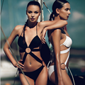 new style sexy pure color with big ring bikinis sexy swim suit women 2016 Women s