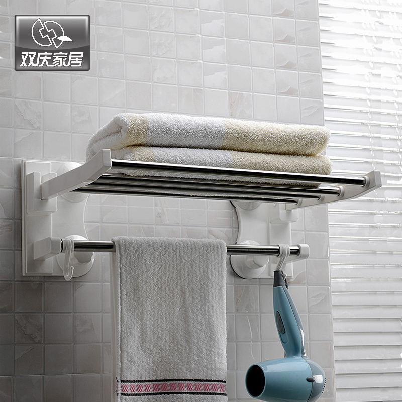 bath towel bar strong suction cup towel rack stainless steel towel hanging. Black Bedroom Furniture Sets. Home Design Ideas